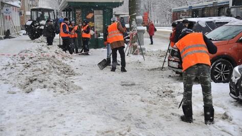 Глава Воронежа поручил управам усилить работу по очистке тротуаров