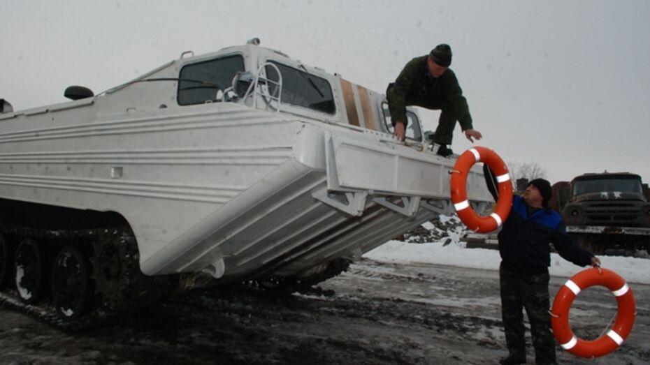 В Кантемировке заранее на случай паводка проверили готовность транспортера