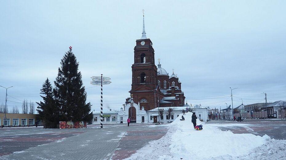 Детскую горку из искусственного снега сделали в Воронежской области