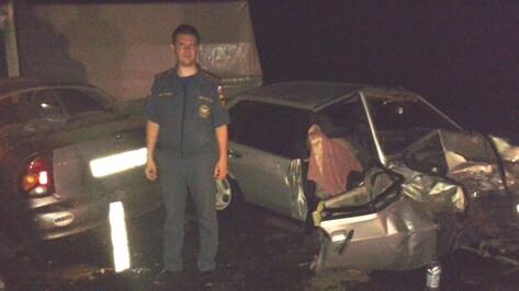 Воронежец врезался в две машины: 1 погибший и 2 раненых