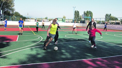 В Панинском районе открылась пятая спортивная многофункциональная площадка