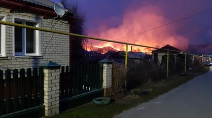 Очевидцы рассказали о пожарах возле райцентра в Воронежской области