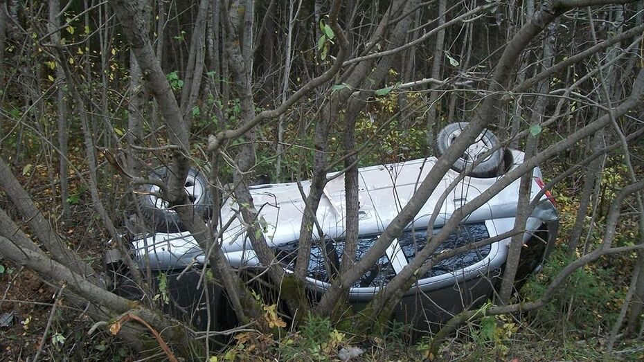 При опрокидывании «Калины» в Воронежской области погибла женщина и пострадал мужчина