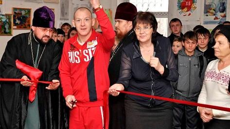 Дмитрий Саутин открыл тренажерный зал при храме