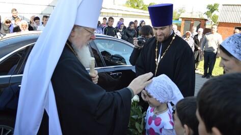В праздник Вознесения Господня митрополит отслужил литургию в Эртильском районе
