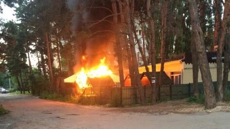В Воронеже ночью сгорело кафе