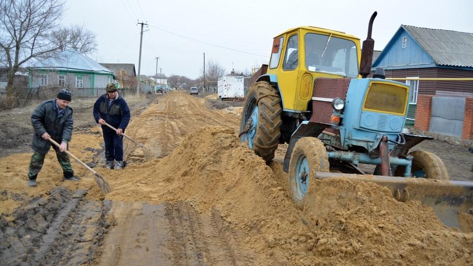 Жители богучарской Твердохлебовки благоустроили сельскую дорогу