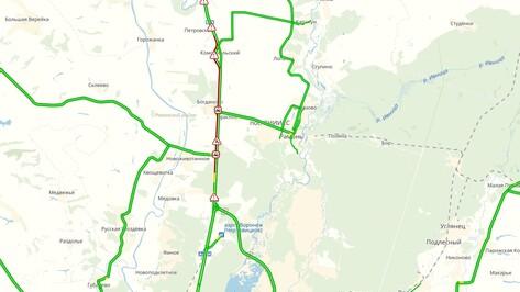 На подъезде к Воронежу образовалась пробка в 15 км