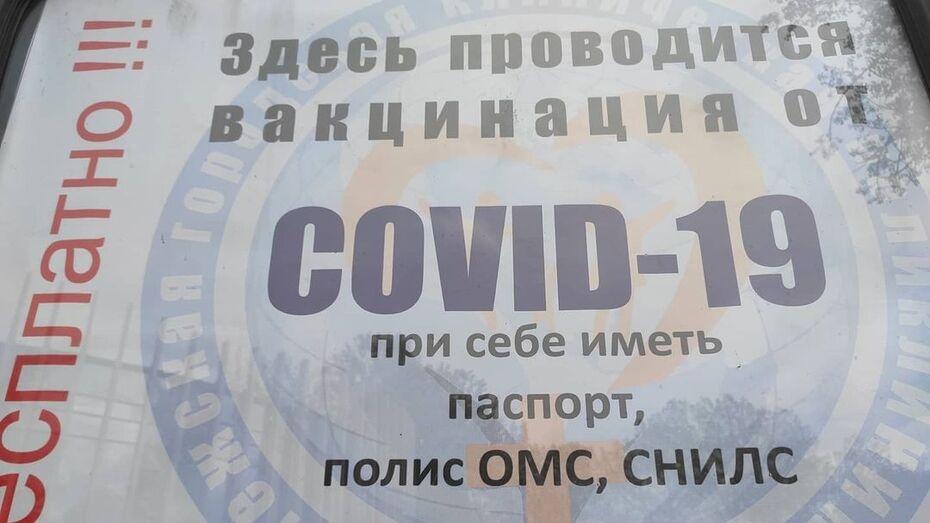 Выездную вакцинацию от COVID-19 устроили в Центральном парке Воронежа