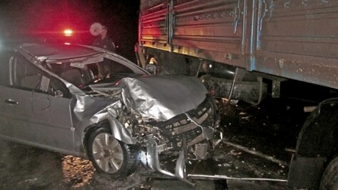 В Воронежской области водитель иномарки разбился в ДТП с грузовиком