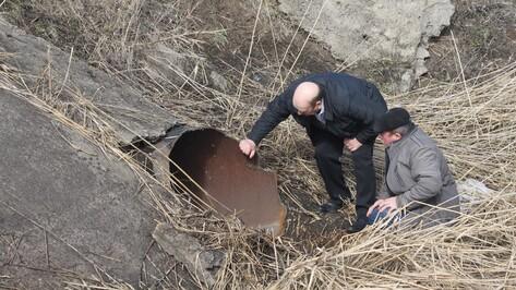 В Панинском районе неизвестные украли перепускную трубу