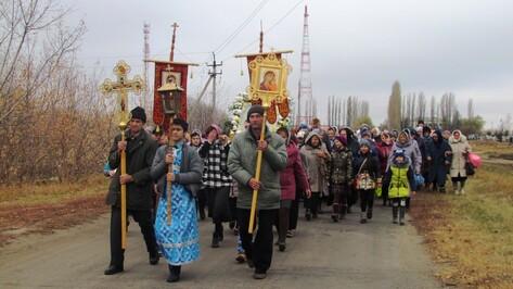 В Нижнедевицке устроили крестный ход на праздник Казанской иконы Божией Матери