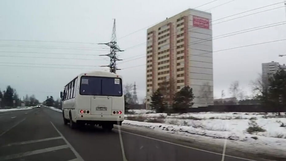 В Воронеже полиция оштрафовала маршруточника после публикации видео нарушения ПДД