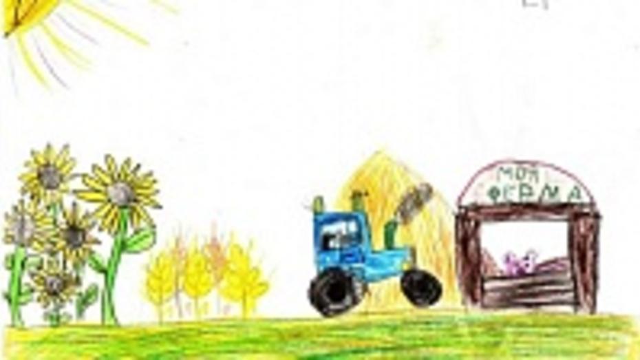 Шестилетняя жительница Репьевки победила в общероссийском конкурсе  рисунков
