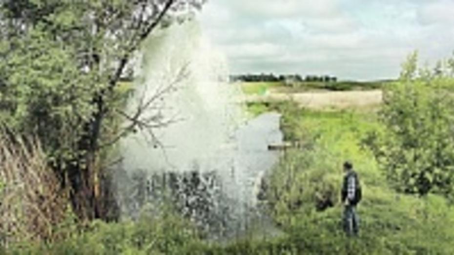 В панинском селе сливают пруд, чтобы отремонтировать плотину