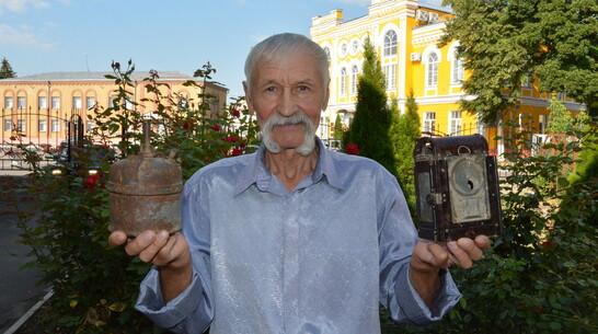 Экспозиция музея богучарского села Дубрава пополнилась 2 немецкими фонарями времен ВОВ