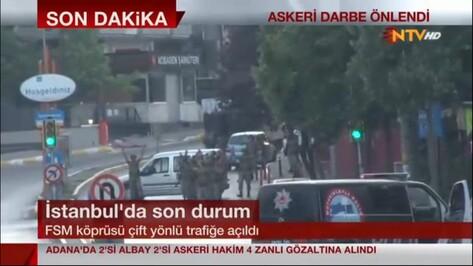 В Турции подавили попытку военного переворота