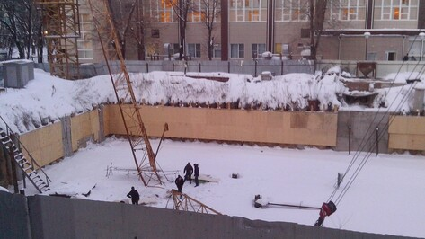 В Воронеже рухнул башенный кран: пострадали двое
