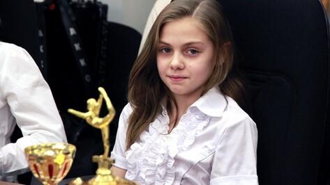 Семилукская гимнастка стала стипендиатом регионального отделения детского фонда