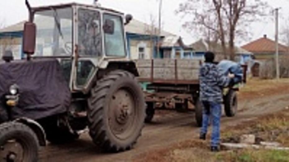 В таловском селе организовали централизованный вывоз мусора