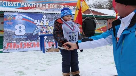 Житель Семилук стал самым юным участником «Лыжни России-2015» в Воронеже