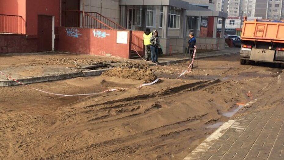 Коммунальщики устранили аварию на водопроводе в Воронеже