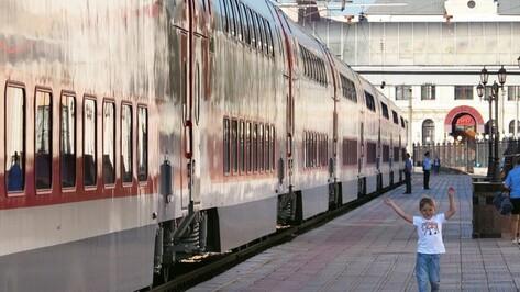 Третий двухэтажный поезд через Воронеж запустят с 29 мая