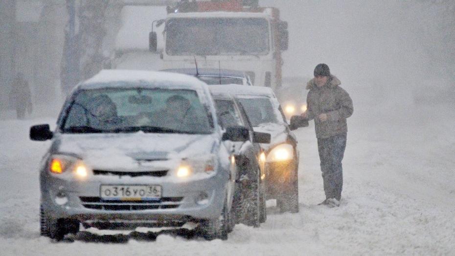 Непогода заставила ГИБДД Воронежской области перейти на усиленный режим