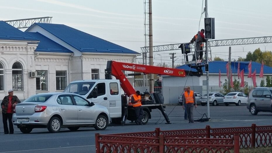 В Подгоренском районе установили первый светофор