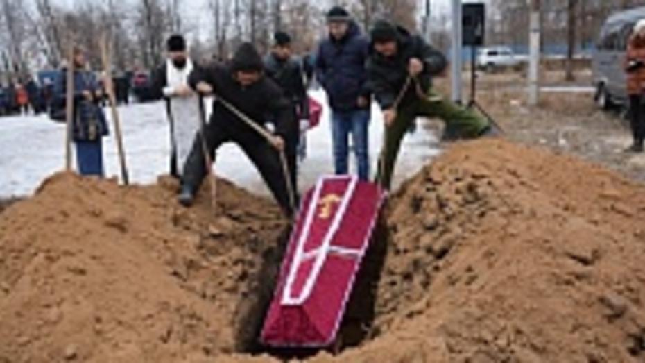 В поворинском Парке Победы перезахоронили останки  советских воинов