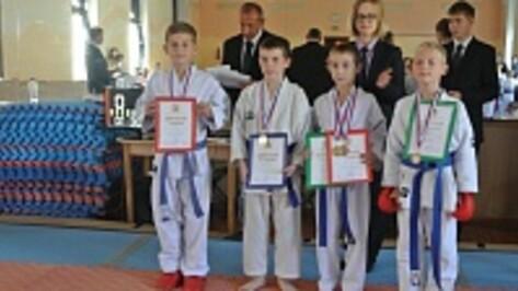 Хохольские спортсмены завоевали девять медалей на областном турнире по каратэ