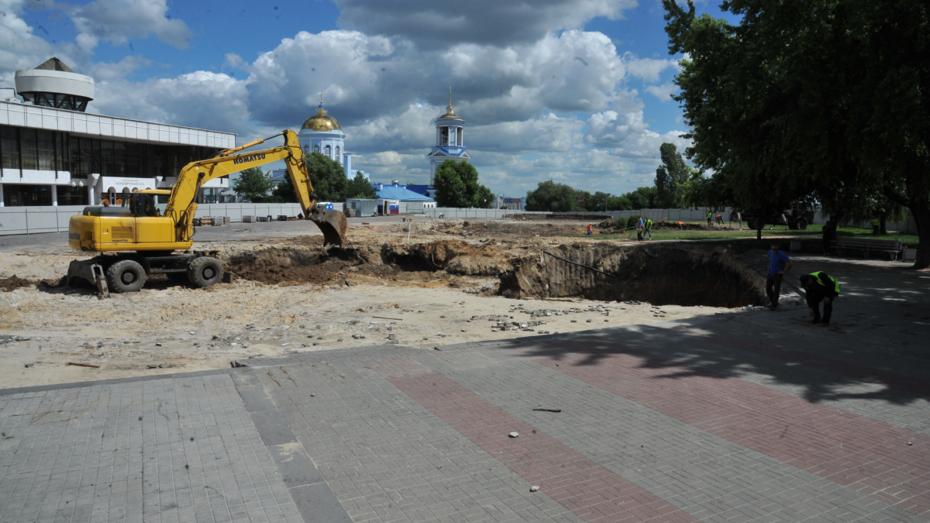 В Воронеже при раскопках на Советской площади нашли осколок древней посуды
