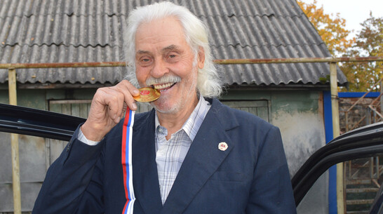 Могучий Кучин. 79-летний житель Воронежской области получил знак ГТО в 4-й раз подряд