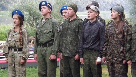 В Верхнемамонском районе открылся оборонно-спортивный лагерь