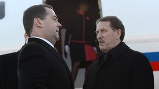 Премьер-министр России Дмитрий Медведев прибыл в Воронеж