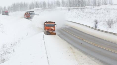 Для уборки снега на трассах Воронежской области привлекли 50 единиц техники