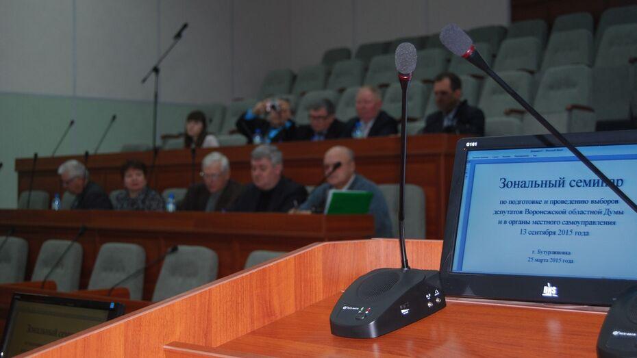 В Бутурлиновке прошло зональное совещание руководителей территориальных избиркомов