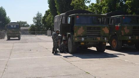 Китайские военные машины вернутся в Нанкин из Воронежской области железной дорогой