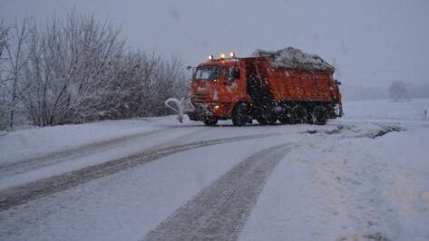 На очистку нижнедевицких дорог от снега выехало 14 единиц спецтехники