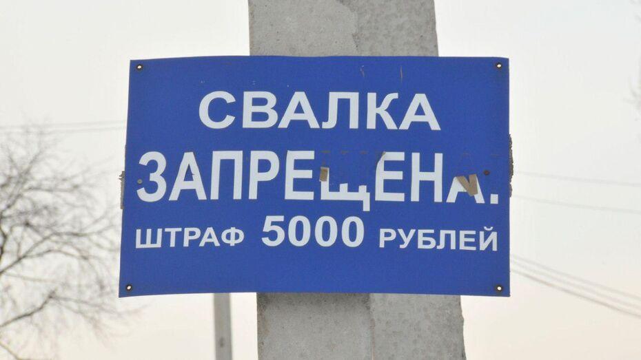 Воронежские экологи обнаружили незаконные свалки в Новой Усмани