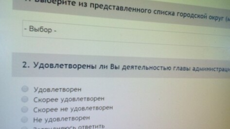 Мэрия Воронежа призвала горожан оценить работу муниципальных чиновников