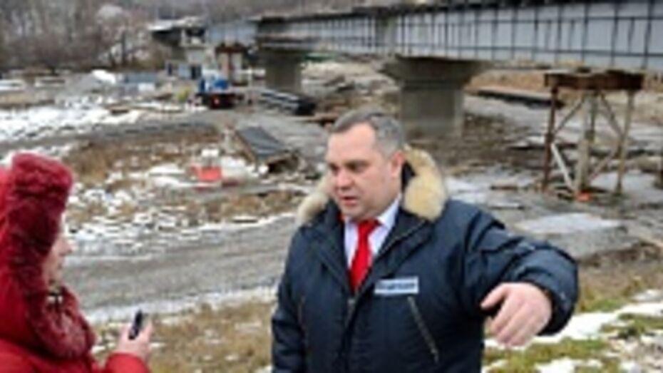 Красный мост через реку Ворона в Воронежской области обещают открыть к 1 июля 2014 года
