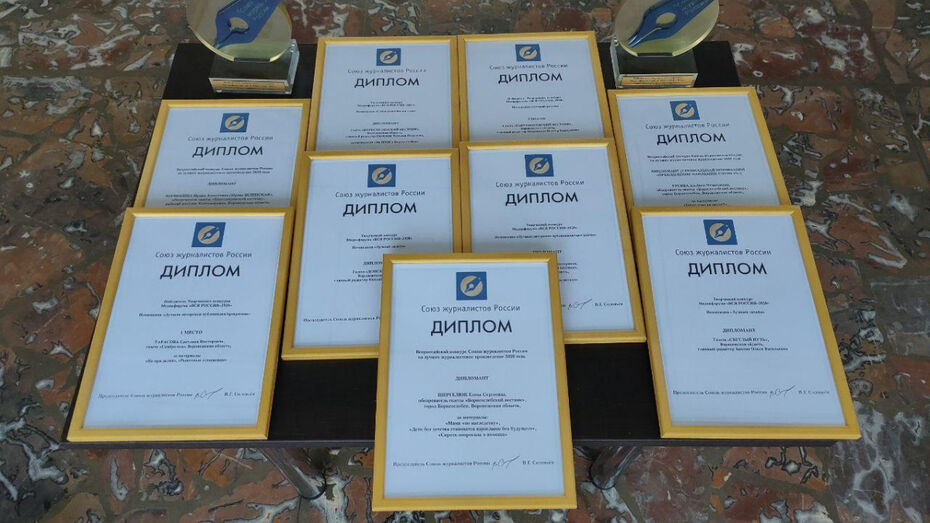 Журналистов РИА «Воронеж» отметили на всероссийском профессиональном конкурсе