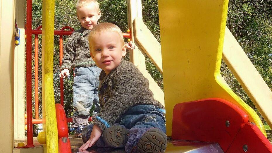 В лискинском селе открыли детскую игровую площадку
