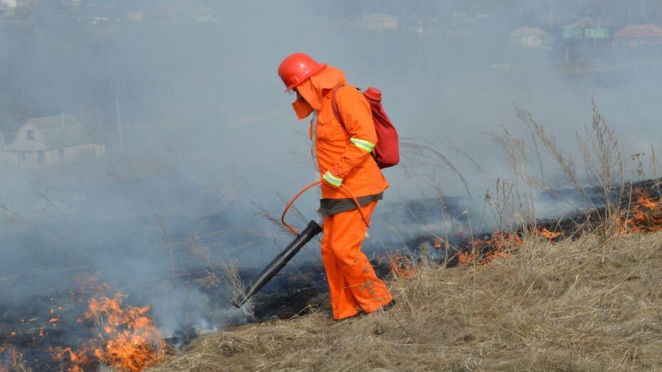 В новохоперском селе пожарные потушили пожар рядом со спиртзаводом