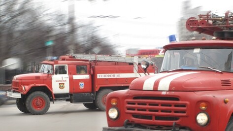 В центре Воронежа загорелся автомобиль