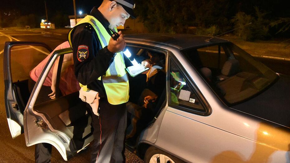 Трехдневную «охоту» на пьяных водителей объявили в Воронеже