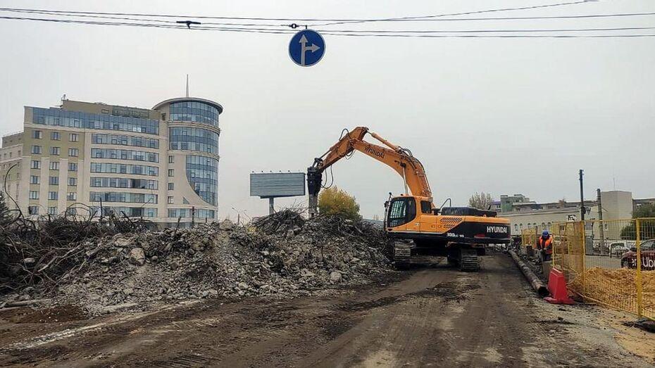 Виадук у «Работницы» в Воронеже снесли с опережением графика