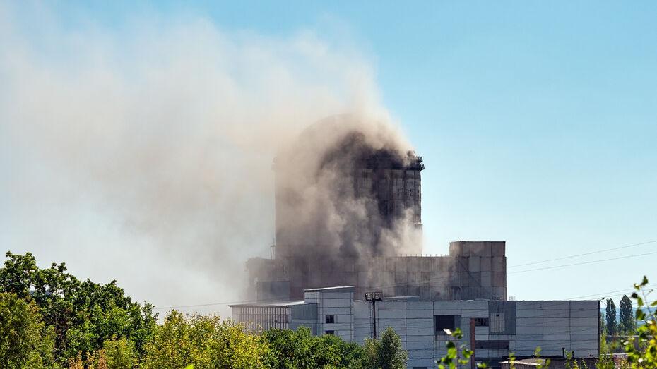 Взрыв ВАСТ в Воронеже попал на видео