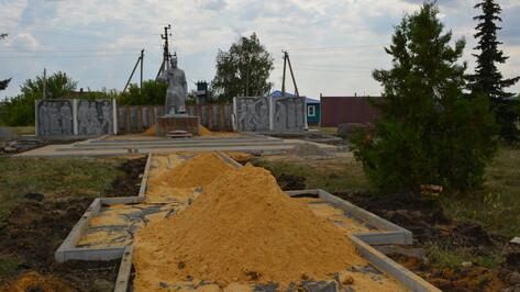 В воробьевском селе Никольское-2 вокруг памятника участникам ВОВ построят сквер